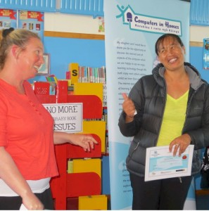 Graduating Mum shows her special rapport with the tutor at Royal Road School