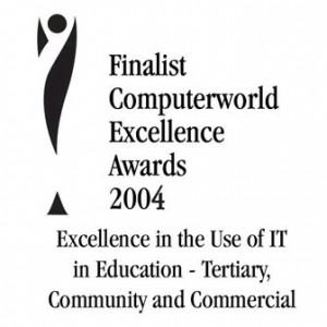 Badge for Finalist CW Excellence Awards 2004