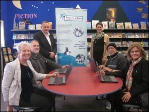 Left to right: Di Daniels (CiH National Coordinator), Chris Worsely (Principal, Pomare School), Tim Findlay (Remarkit), Anna Ririnui (Transpower), John Tiaki (CiH Tutor), Cr Gwen McDonald (CiH Wellington-Hutt Steering Group Chair)