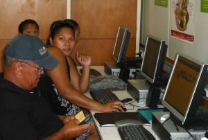 Julie, Joey and Henry during a training session with Tuhoe's Kimioranga Whanau Ora programme at Kawerau