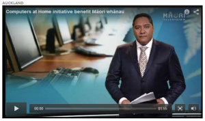 Click to watch Māori Television item on Computers in Homes in Papakura