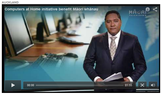 Māori Television item on Computers in Homes in Papakura - click to watch