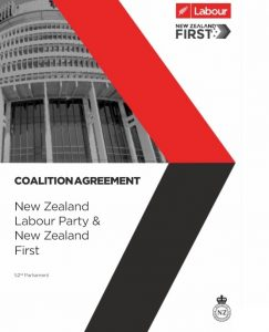 Coalition Agreement Labour and NZ First
