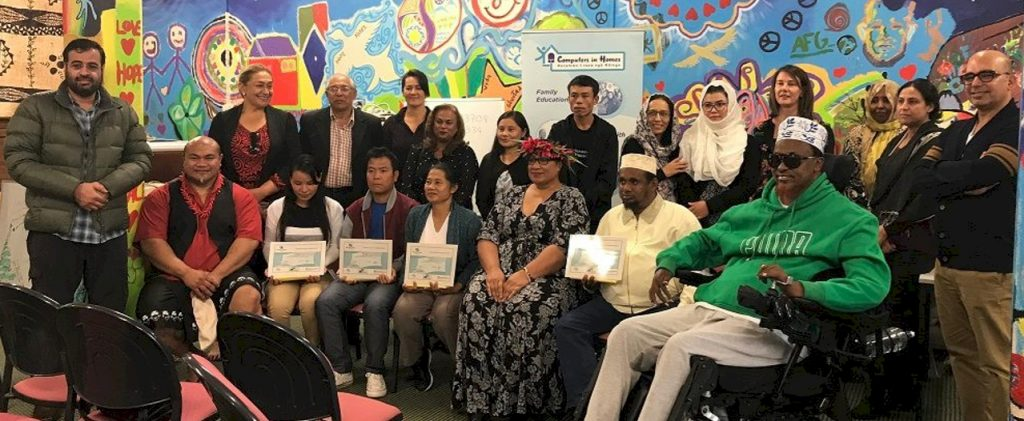Graduates at Auckland Refugee Programme (Computers in Homes) Graduation